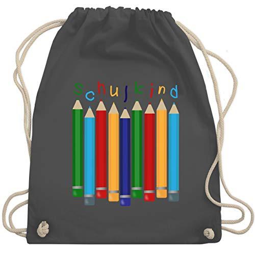Einschulung und Schulanfang - Schulkind Buntstifte - Unisize - Dunkelgrau - WM110 - Turnbeutel & Gym Bag