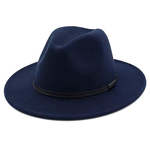 OLIS,Cappello Fedora Feltro Borsalino Trilby Panama Cappelli Per Uomo Donna  Inverno b00c1266f2e0