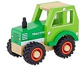 Traktor aus Holz, Grün