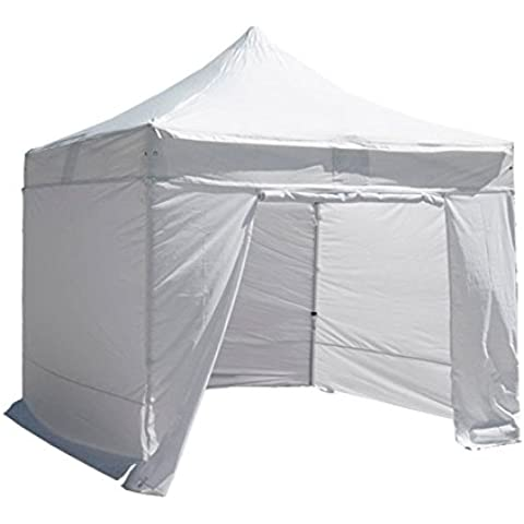 INTEROUGE PLITECH QUALITY - Carpa Pabellón Tienda 3x3m para Uso en Jardín Fiesta Camping Terraza (De Aluminio+PVC Impermeable,Adjustable de