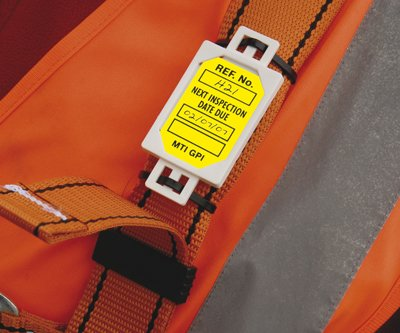 Lockout tag safety harness microtag insert (pack of 20) red