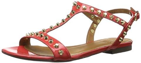 billi bi Copenhagen 11631282, Semelles compensées femme - Rouge - Rot (Coral patent/ gold 282), 37 EU
