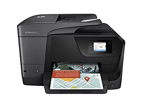 HP OfficeJet Pro 8715 Imprimante Multifonction Jet d'Encre couleur (22 ppm, 4800 x 1200 ppp, USB, Wifi, Ethernet, Fax, Instant Ink)