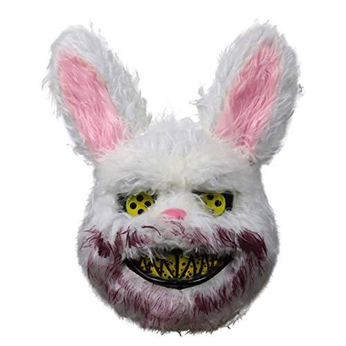 LuMon Halloween Maske, Blutig Horror Cartoon Tier Maske, Halloween Party Blutig Cosplay Plüsch Maske Halloween Party Kostüm Zubehör - - Kostüm Kaninchen Loch
