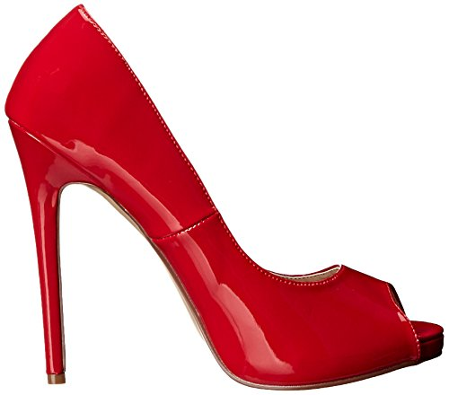 Pleaser Sexy-42, Escarpins femme Rouge (Red Pat)