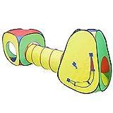 (POP-B) deAO® MULTICOLORE TENDA POP-UP (x2) CON TUNNEL