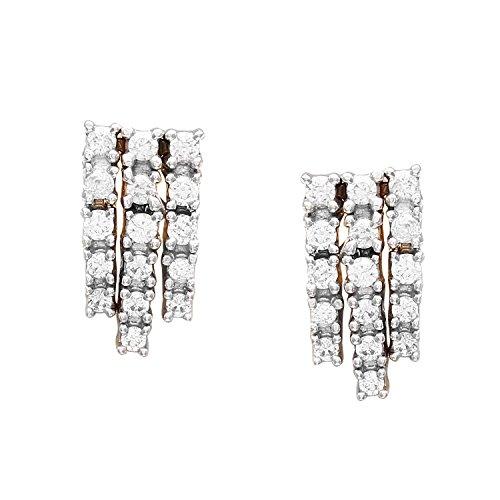 Giantti 14carats Diamant pour femme Dangler Boucles d'oreilles (0.4072CT, VS/Si-clarity, Gh-colour)