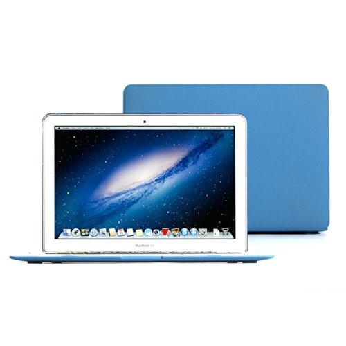 GMYLE MacBook Air 13 Hülle,Matt Gummierte Hartschale Tasche Schutzhülle Snap Case, 13.3 Zoll (A1466 / A1369) , Blau (Macbook Air Case Blau)