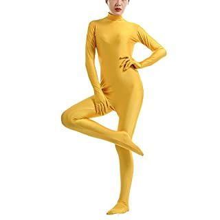 Unisex Halloween Jumpsuits Adult Stage Costume Party Outfit Yellow S