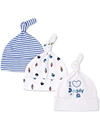 Casa Unisex 3 Beanie Gorra para Bebés , Recién Nacido Caps Baby Niños Gorra de Sueño