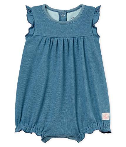 Petit Bateau Baby - Mädchen Spieler combicourt_4851602, Blau (Fontaine 02), 62 (Herstellergröße: 3M/60cm)