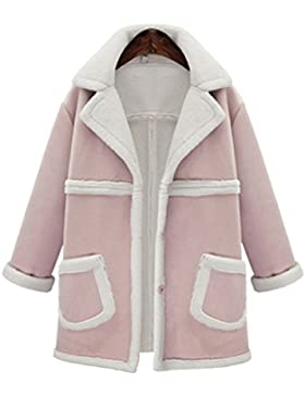 Heheja Donna Invernale Giacca Design Semplice Moda Colore Solido Cappotto Di Lana Delle