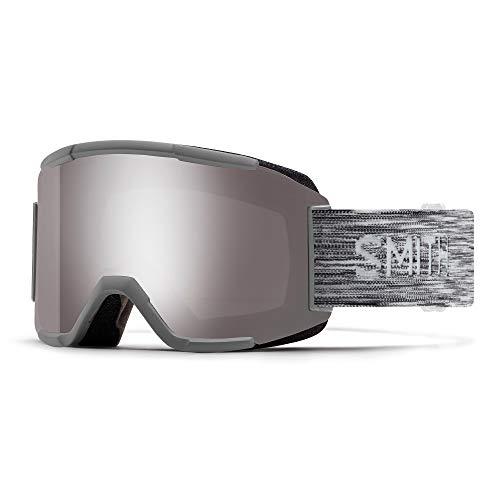 SMITH (SMIZD) Squad Skibrille mit Chroma Pop, CLOUDGREY, Mittelgroße Passform
