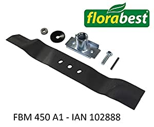 florabest ersatzmesser f r lidl florabest benzin rasenm her fbm 450 a1 ian 102888. Black Bedroom Furniture Sets. Home Design Ideas