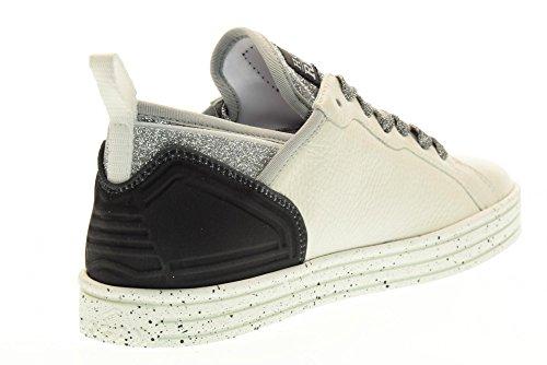 HOGAN REBEL scarpe donna sneakers basse HXW1410X050FJK0351 R141 Bianco-argento