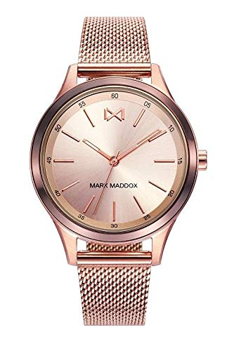 Mark Maddox mm7110 – 97 Ladies Watch Quartz Steel Ip Rosé Milanesa Mesh Size 36 mm