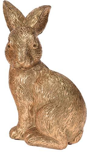 Hibuy coniglio pasquale, coniglio dorato da decorare, ca 15 cm di altezza
