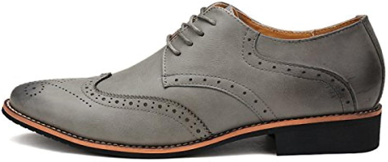 Männer Business Casual Schuhe Herrenschuhe Block Schuhe Niedrig Zu Helfen Lace Casual Schuhe