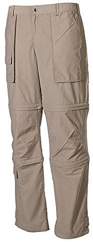 Fox Men's extérieure multifonctionnelle Pantalon Microfibre avec poches latérales XXL Marron - Kaki