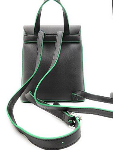 Borsa Zaino Armani Jeans 922561 cc856 in saffiano chiusura calamita e ciondolo AJ Grigio