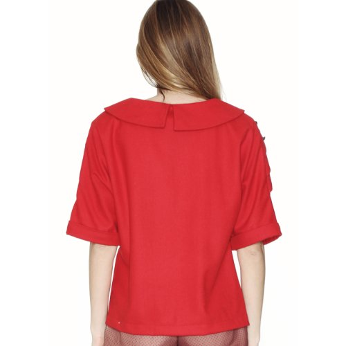 Pepa Loves Top MAGNOLIA SHIRT rouge Rouge