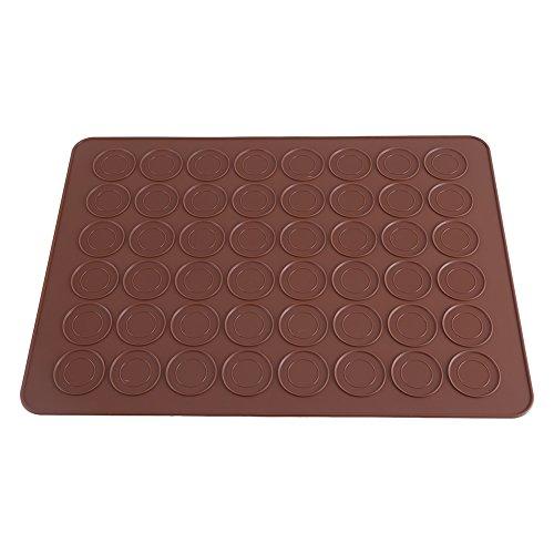 Dewin Macaron Backmatte - 48 Hohlraum-Silikon-Form-Blatt-Matte, Makronen-Plätzchen-Gebäck DIY Bakeware, das Werkzeuge verziert