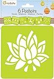 Avenue Mandarine 42646O - Set mit 6 Schablonen, Blumen