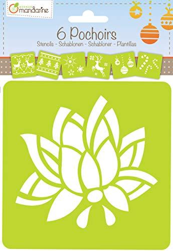 Avenue Mandarine 42646O - Set mit 6 Schablonen, Blumen -
