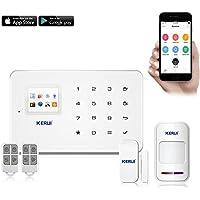 KERUI G18 Android APP IOS Contrôle sans fil Système de Sécurité GSM Système d'alarme sans fil Magnétique Fenêtre Capteur + Détecteur de Mouvement