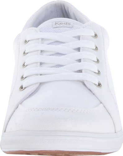Keds Women's Vollie LTT Canvas Sneaker,White,6 M US White