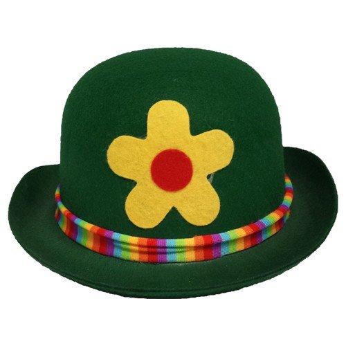 Guirca - Sombrero bombín con flor-[Color:Verde claro]