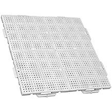 TERRAGUIDE Sun Placas para Suelo/terraza 1m², 4 Unidades de 50 x 50cm,