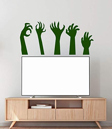 jiuyaomai Vinyl Wall Applique Monster Hand Zombie Halloween Dekoration Aufkleber TV Aufkleber 126x57cm