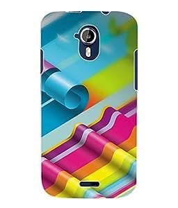 Fuson 3D Printed Coloured Pattern Designer Back Case Cover for Micromax Canvas Magnus A117 - D1026