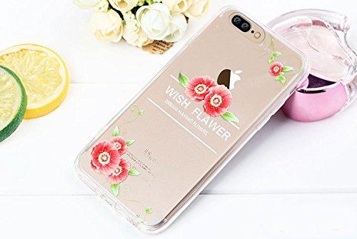 iPhone 7 Plus Case , Bonice iPhone 7 Plus Cover,Bonice Colorato Ultra Thin Morbido TPU Silicone Rubber Clear Trasparente Back Creativo Case –pulcino 02 model 2