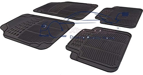 XtremeAuto® Universal Full Rubber 4 Piece Heavy Duty High Quality Non-Slip Car Floor Well Mat