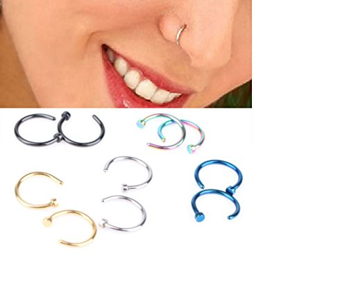 ILOVEDIY Nasenpiercing Nasenring Fake Hoop Ring
