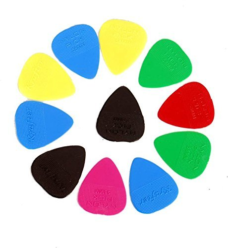 Mustang 20 PCS Guitar Picks, MultiColor Standard Flat Guitar Pick 0.46MM Medium Thickness Guitar  available at amazon for Rs.130