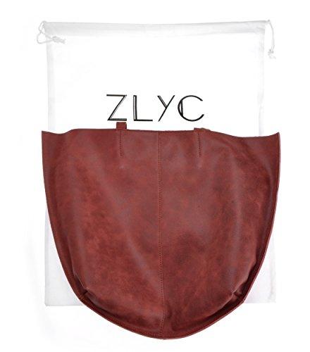ZLYC, Borsa tote donna Red