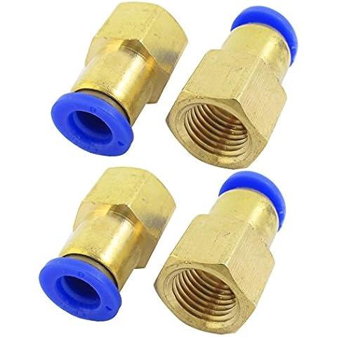 Sourcingmap  - 4pcs 1/4 rosca hembra pt al tubo de 8 mm de aire neumático conjunta acoplamiento rápido