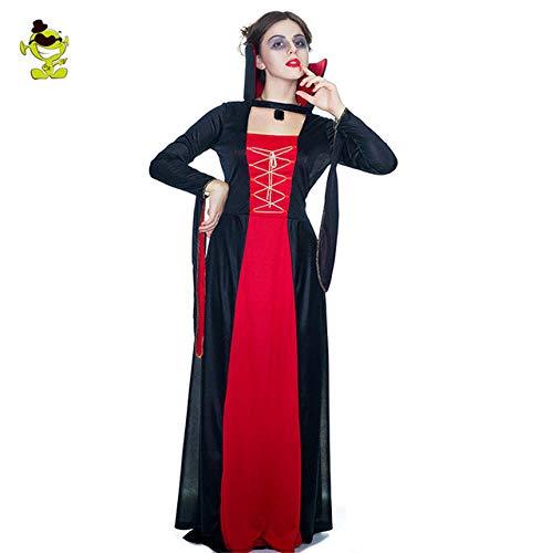 Teufels Königin Kostüm - GAOGUAIG AA Frauen teufel vampire kostüme for frauen sexy halloween kostüme schwarz böse königin kostüm cosplay party dress SD (Color : Onecolor, Size : Onesize)