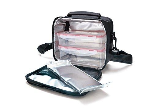 Iris Bolsa portalimentos para llevar comida con contenedores de 0,6 y 0,8L