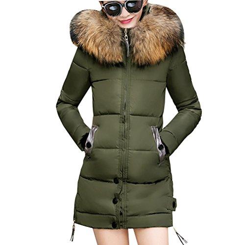 Zhhlaixing Mode Mantel Long Style Thick Down Jacket Cotton Women Slim Clothing Coat Plus Size (Down Mäntel Womens Plus Size)
