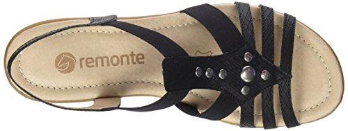 Remonte Dorndorf R3604, Sandali con Cinturino Donna Nero (Schwarz/schwarz)