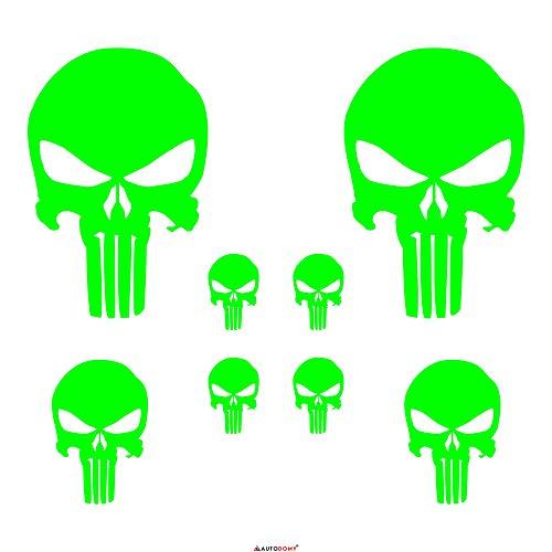 Autodomy Pegatinas Punisher Calavera Pack 8 Unidades para Coche o...