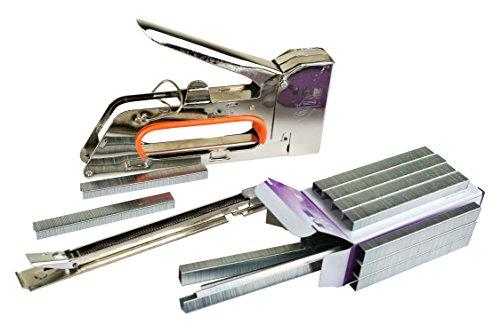 Preisvergleich Produktbild 4/6/8MM Handtacker Tacker Metalltacker Schnellhefter Hefter + 3584 Klammern 8MM