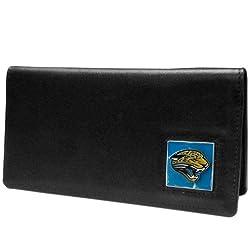 NFL Jacksonville Jaguars Leather Checkbook Cover