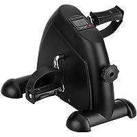 Minibicicleta Estática Plegable para Entrenamiento de Brazos y Piernas, Pedaleador Plegable con LCD Pantalla y Resistencia Ajustable (Negro)