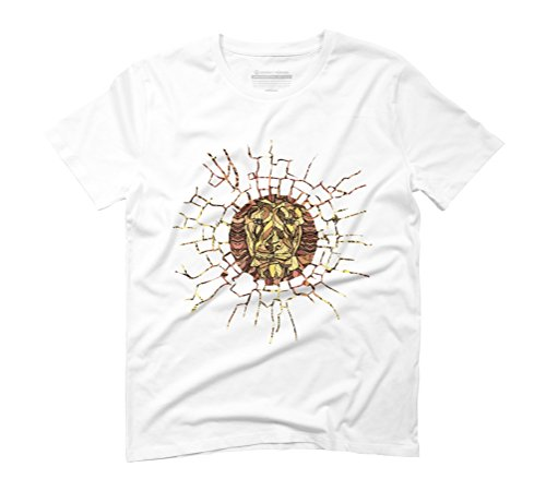 ABSTRACT LION Men's Graphic T-Shirt - Design By Humans White
