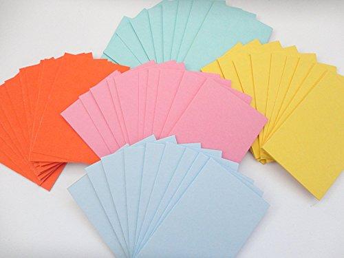 Flash Karten Pack von 500Stück in 5verschiedenen Farben-hohe Qualität 160gsm Karte-Größe 100mm x 74mm-A7-von Party Decor Gsm-flash